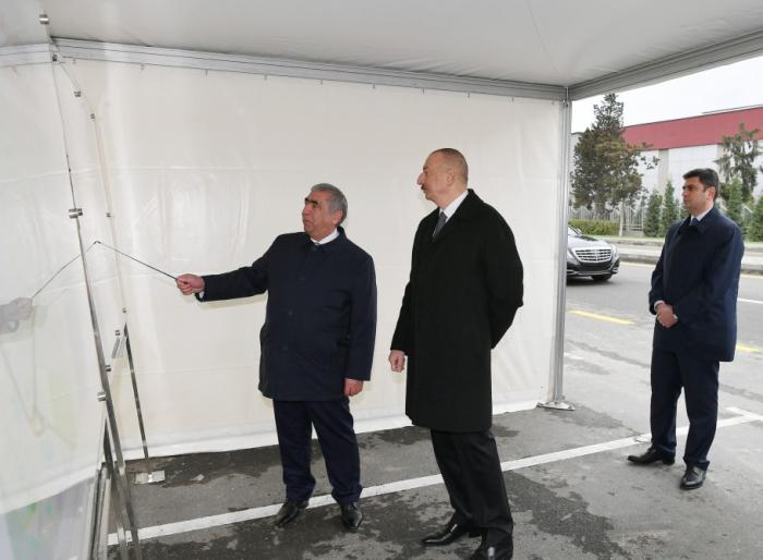 Präsident Ilham Aliyev weiht Automobilstraße Mardakan-Gala ein