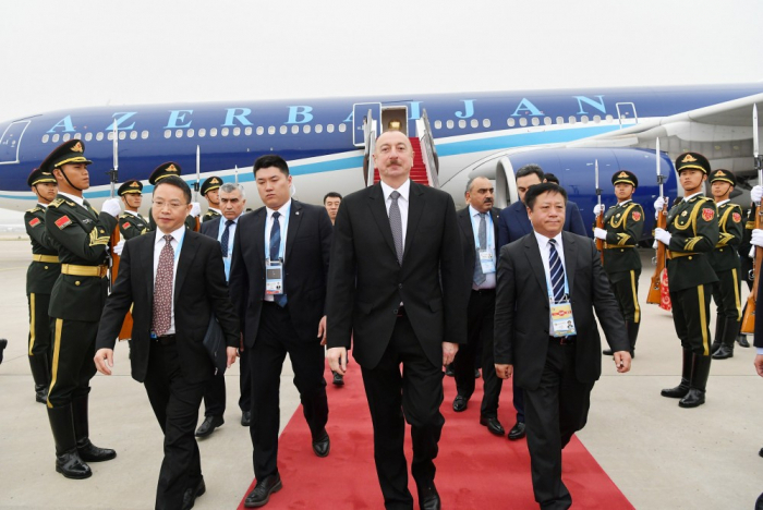 Ilham Aliyev se rend en Chine pour une visite de travail - Photos