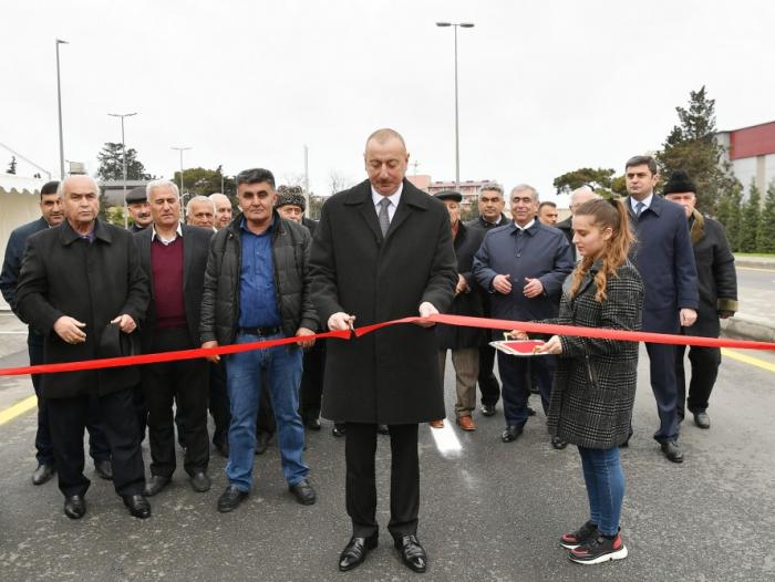 Prezident yol açılışında iştirak edib - Yenilənib (FOTOLAR)