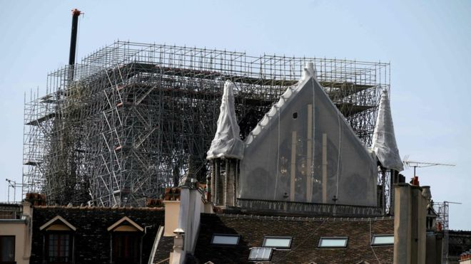 Notre-Dame fire: Rain threatens France