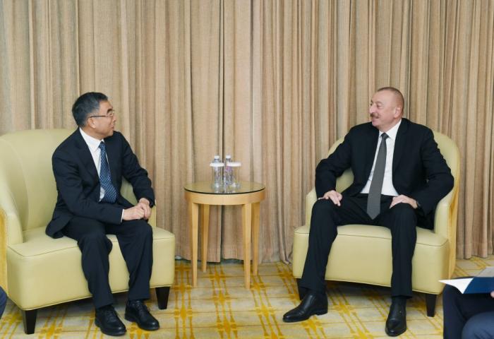 """Prezident """"Huawei"""" şirkətinin sədri ilə görüşüb - Yenilənib"""