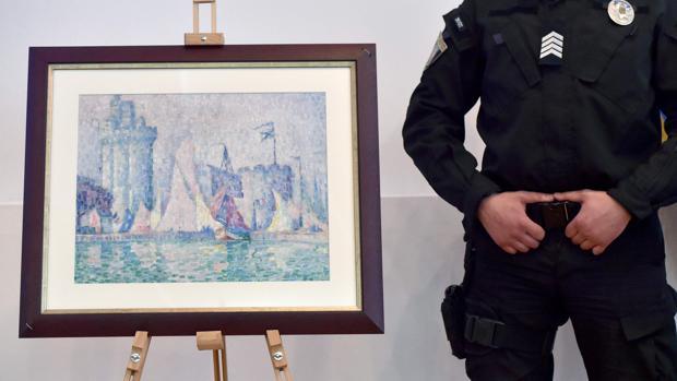 Recuperan en Ucrania un cuadro de Signac robado hace un año en Francia