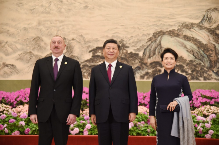 Prezident dövlət başçıları ilə birgə ziyafətdə - FOTOLAR