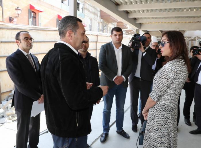 """""""Qala divarının heç bir daşına da ziyan vurmaq olmaz"""" - Mehriban Əliyeva (VİDEO)"""