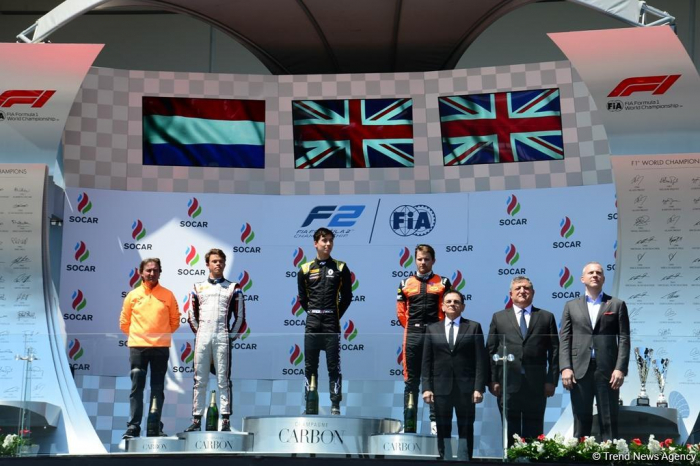 Winners of F2™ First Race of Formula 1 SOCAR Azerbaijan Grand Prix 2019