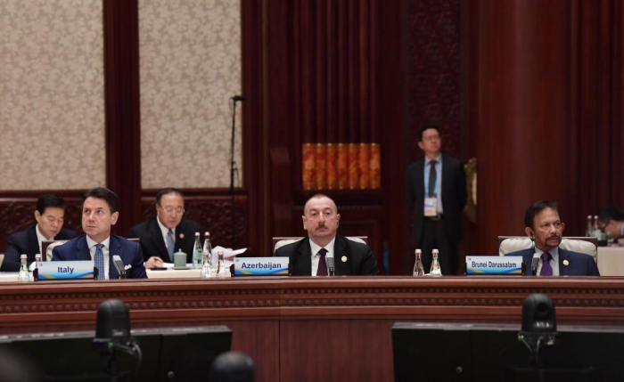 President Aliyev attends Second Road and Belt International Cooperation Forum in Beijing