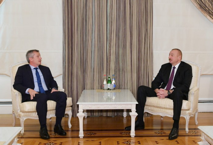 Le président azerbaïdjanais a reçu Emilio Monzo