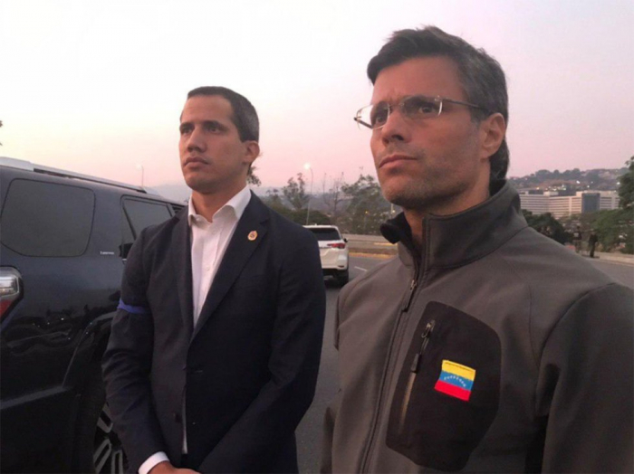 La liberación de Leopoldo López por Guaidó, en imágenes