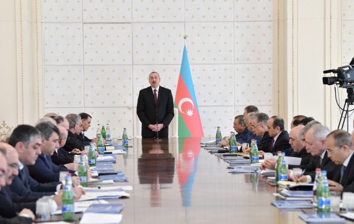 President Ilham Aliyev chairs Cabinet meeting on results of Q1 2019 & future tasks