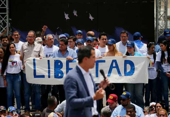 Venezuela's Guaido in video calls for military uprising