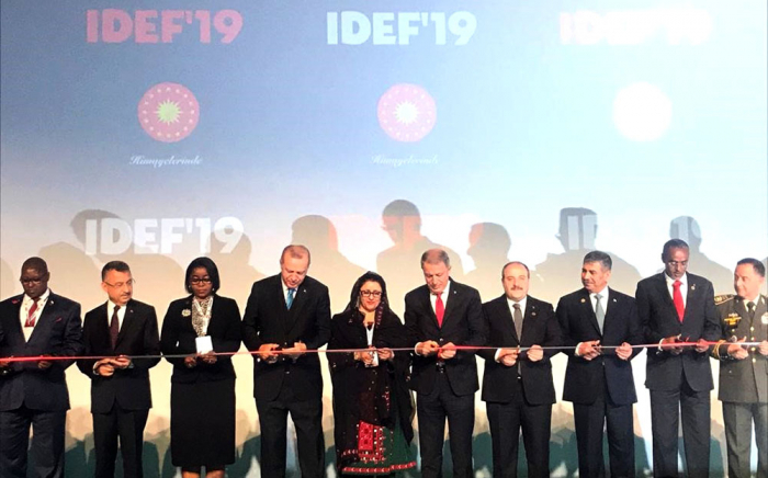 Azerbaijani Defense minister attends opening ceremony of IDEF 2019