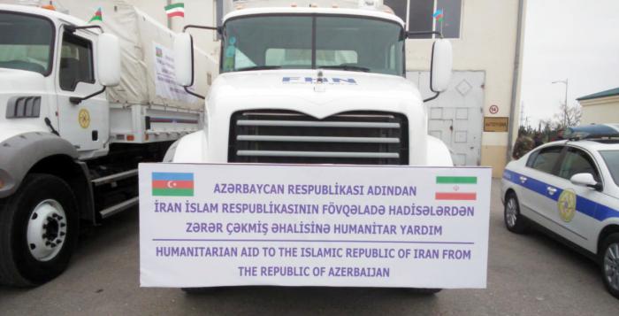 Azərbaycanın göndərdiyi yardım İrana təhvil verilib