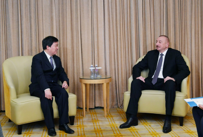 Azerbaijani president meets chairman of ZTE Corporation in Beijing