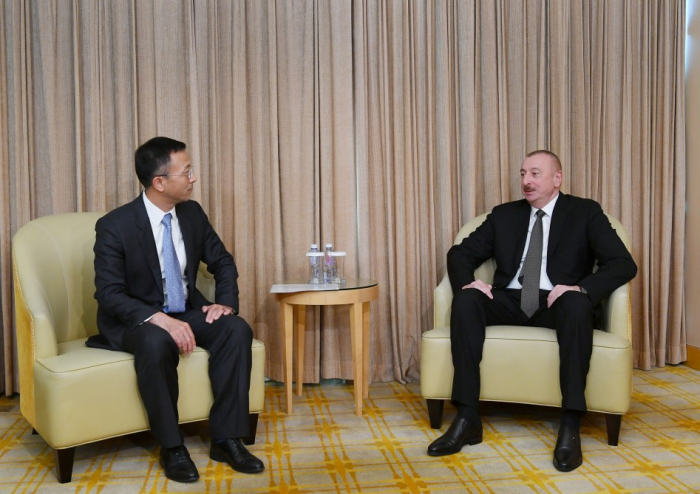 President Ilham Aliyev meets with president of China National Electric Engineering