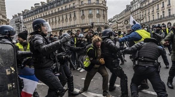 """نشر 60 ألف شرطي في باريس تحسباً لـ""""السترات الصفراء"""""""
