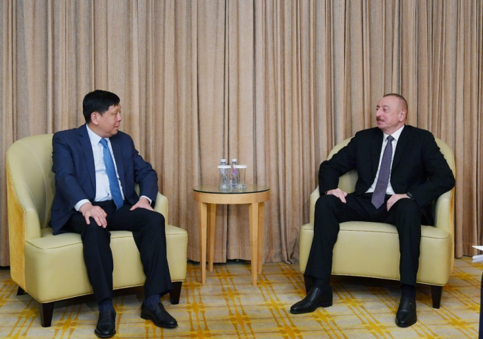 President Aliyev meets with director general of CETC International Corporation