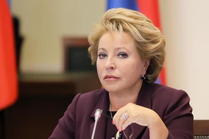 """Valentina Matviyenko """"Dostluq"""" ordeni ilə təltif edildi"""