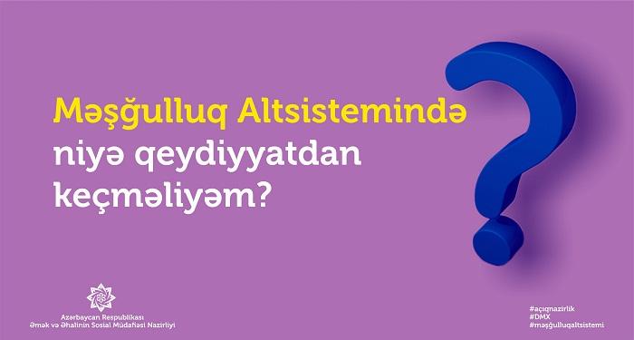"""""""Məşğulluq"""" altsistemi fəaliyyətə başlayır"""