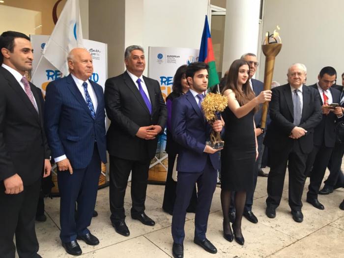 Olimpiya oyunlarına 100 gün qaldı - Məşəl Azərbaycana ötürüldü