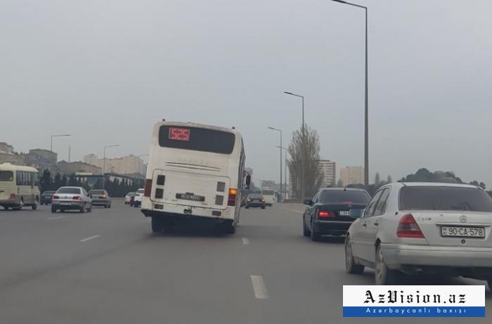Sərnişinləri qorxuya salan avtobus xətdən çıxarıldı