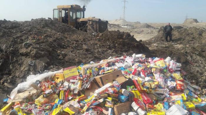 19,5 ton yararsız məhsul məhv edildi - FOTOLAR