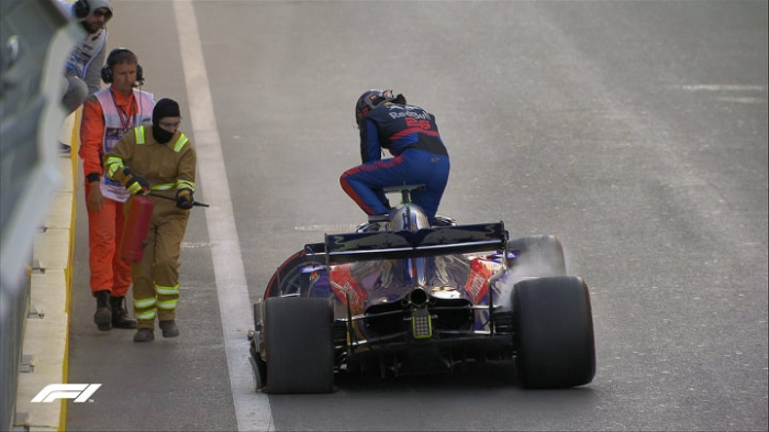 Another accident occurs during F1 practice session in Baku