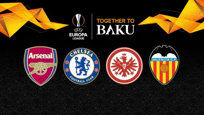 Valencia, Arsenal, Chelsea y Eintracht lucharán por la final de Bakú