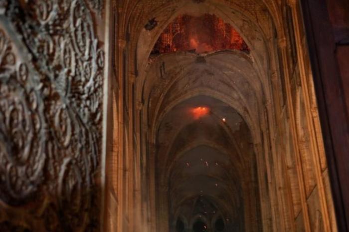Las primeras imágenes del interior de Notre Dame