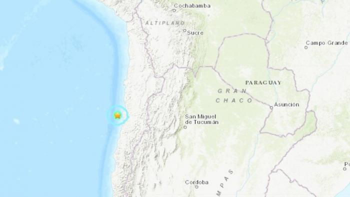 Se registra un sismo de magnitud 5,5 cerca de las costas de Chile