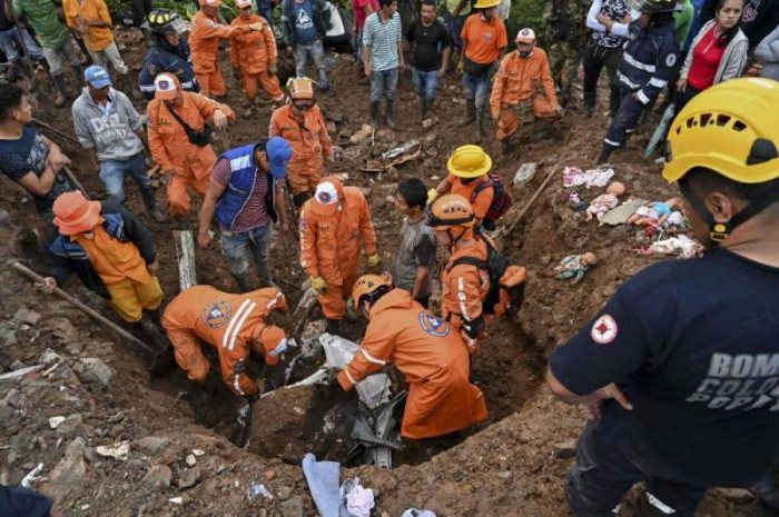 Glissement de terrain en Colombie:  au moins 17 morts, 13 disparus