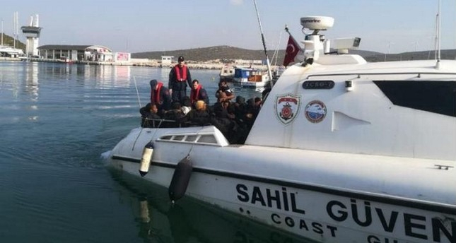 Turkish coastguard rescue 16, intercept 60 irregular migrants off Aegean coast