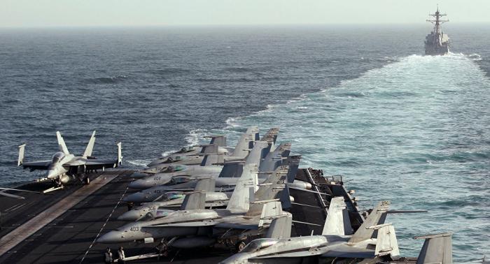 بإسناد جوي... قوات عسكرية إيرانية تدخل سواحل سلطنة عمان