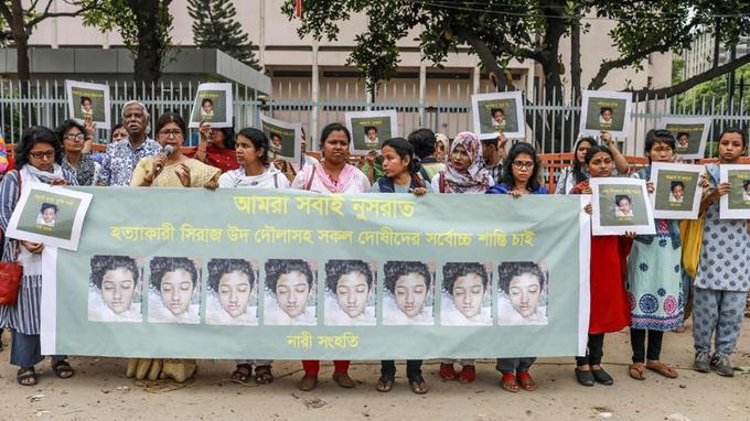 Bangladesh:   manifestations après le meurtre d