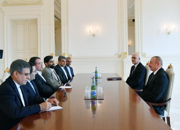 Azerbaijani president receives delegation led by Iranian minister
