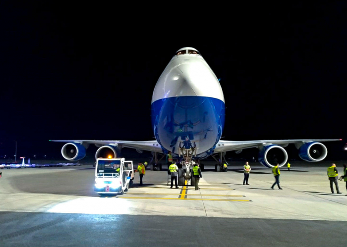 Azerbaijan's Boeing 747 freighter lands at new Istanbul New Airport for first time