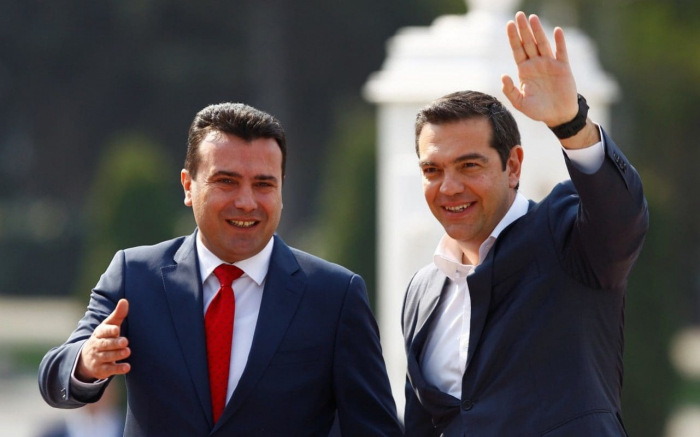 Greek PM Alexis Tsipras visits North Macedonia after name deal