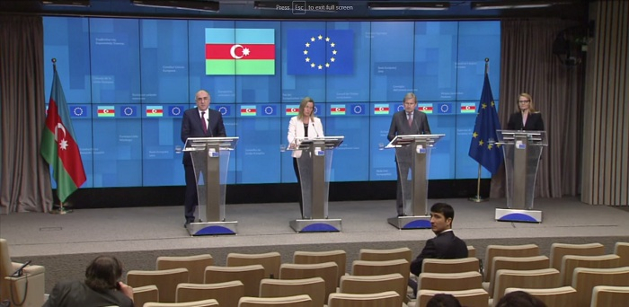 EU-Azerbaijan Cooperation Council - Roundtable and press conference -  VIDEO