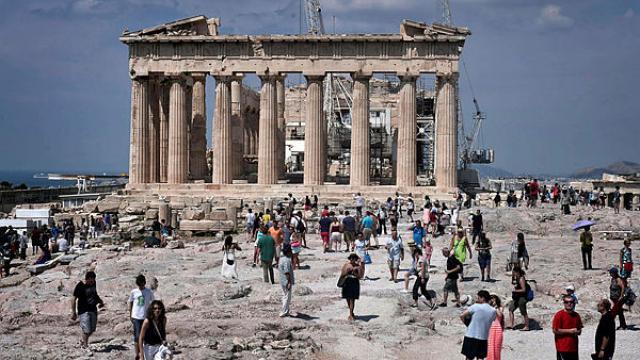Grèce:  la foudre sur l