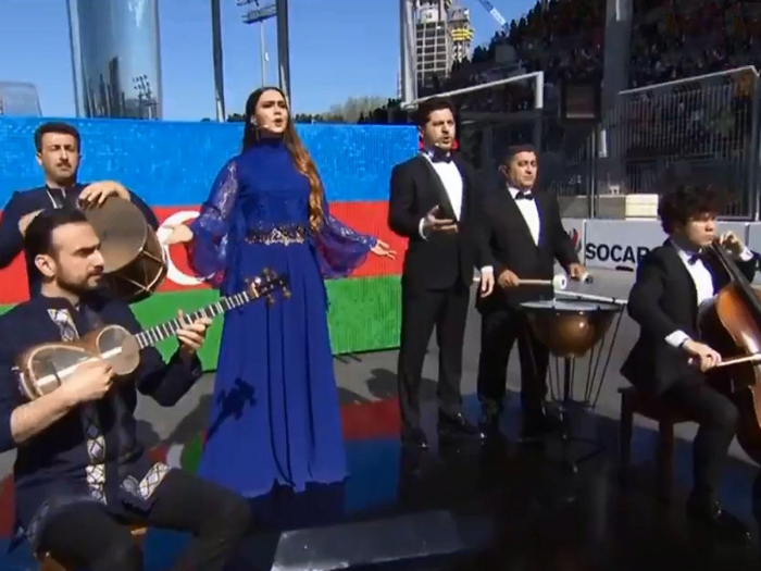 Anthem of Azerbaijan performed in new arrangement in F1 opening ceremony