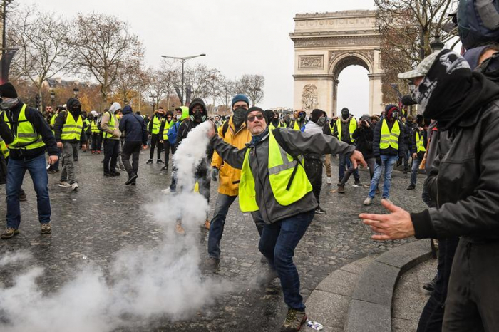 French police, yellow vests protesters clash in Strasbourg