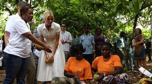إيفانكا ترامب تدعو لتمكين المرأة اقتصادياً في كوت ديفوار