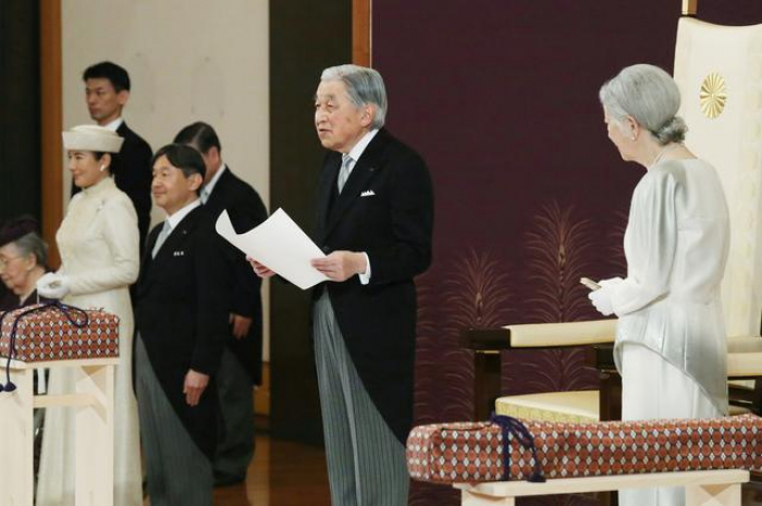 Departing Japanese Emperor Akihito thanks the people, prays for peace