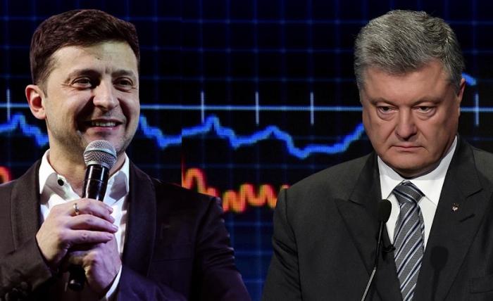 Zelenski Poroşenko ilə debatdan qaçdı - VİDEO