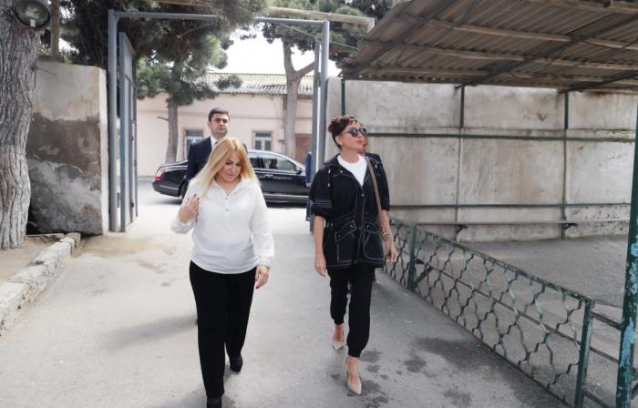 Primera vicepresidenta Mehriban Aliyeva efectúa unas visitas