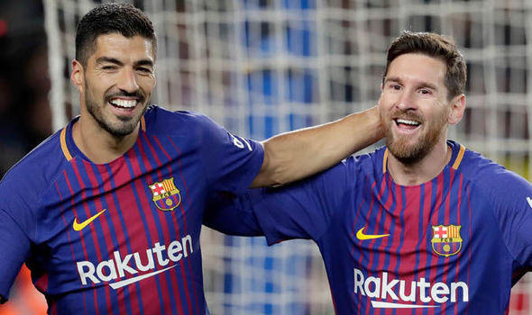 Barcelona 2-0 Atletico Madrid:   Messi and Suarez score after Diego Costa red card