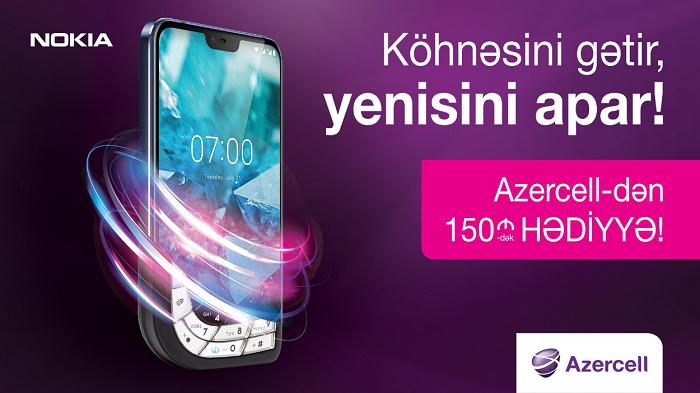 Azercell-dən yeni 4G Nokia smartfonu və 150 AZN-dək hədiyyə qazan!