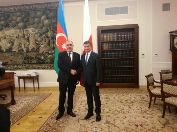 Azerbaijani FM meets Speaker of Poland