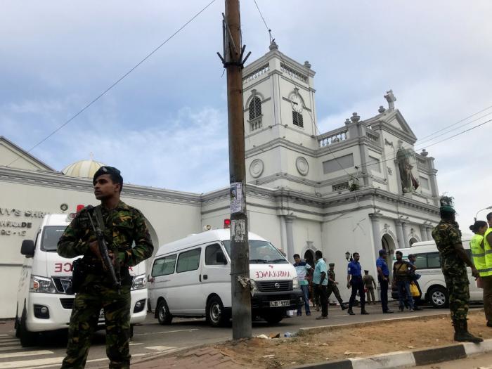 WATCH Suspected Suicide Bomber Entering Sri Lankan Church -   VIDEO