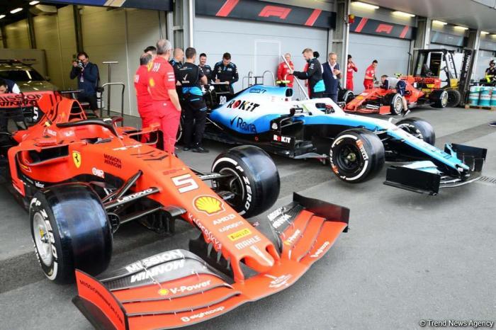 Baku preparing cars for F1 SOCAR Azerbaijan Grand Prix 2019