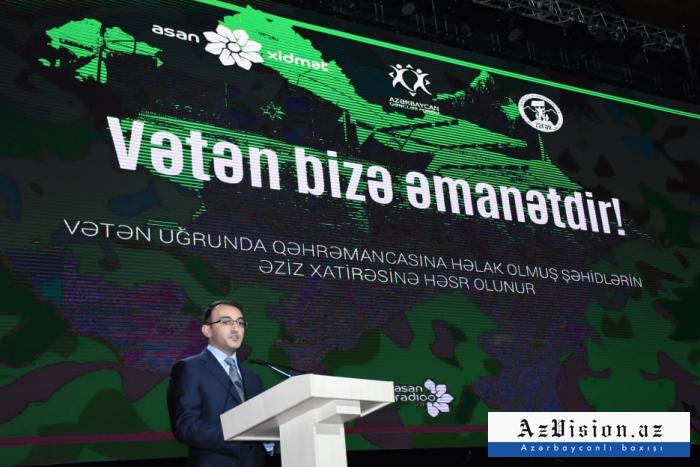 """""""Vətən bizə əmanətdir"""" bədii kompozisiyası təqdim olunub - FOTOLAR"""